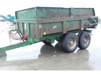 مقطورة رزاعية Bailey 14 Ton Twin Axle Draw Bar Dump Trailer, Hydraulic Tail Gate