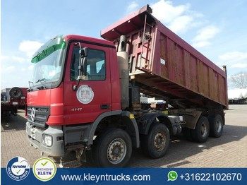 شاحنة قلاب Mercedes-Benz ACTROS 4141 8x4 full steel 18m3