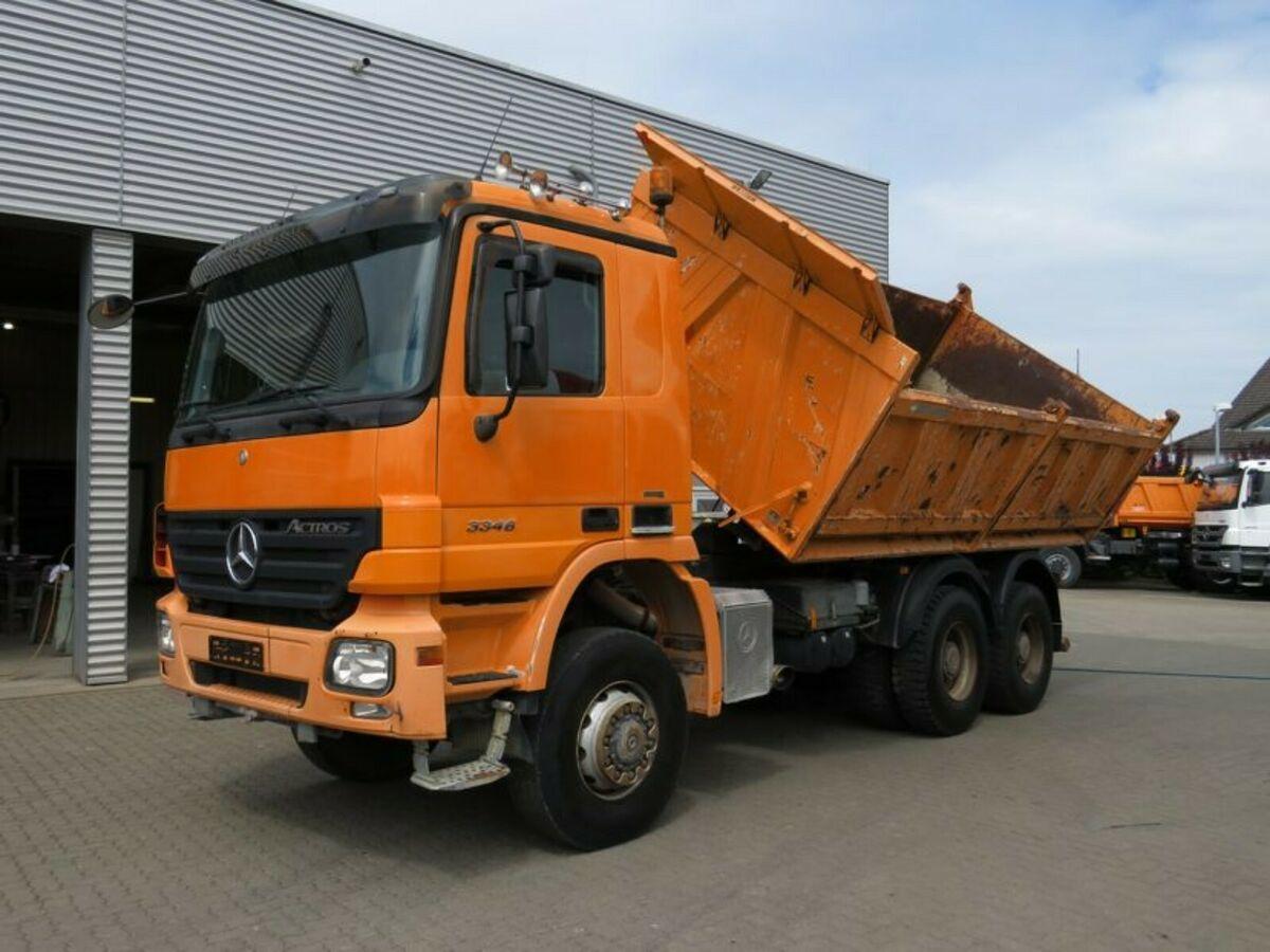 شاحنة قلاب Mercedes-Benz Actros 3346 6x6 3-Achs Allradkipper Meiller —  3861465