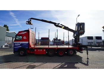 نقل خشب الأشجار Volvo FH500 8X4/4 TIMBER TRANSPORT WITH JONSERED 1080 79R CRANE